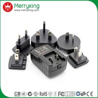 structural disabilities 10W USB ac/dc adapter with adjustable plug CE GS CB UL CUL FCC SAA approval