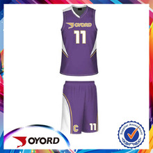 New design printed comfortable sample basketball jersey
