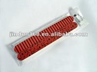 red stripe natural nail file