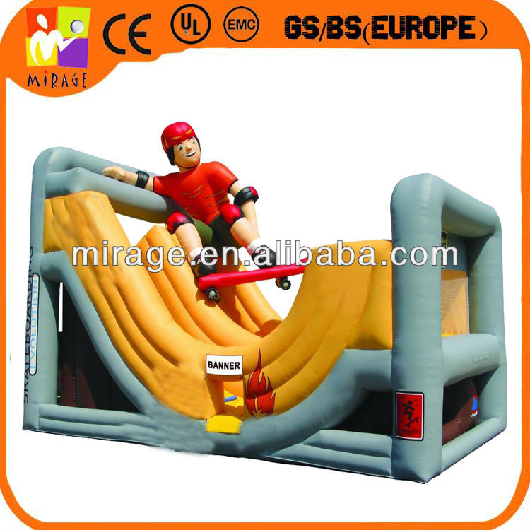 Large inflatable playground combo slide