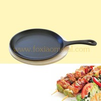 vegetable oil / pre seasoned cast iron sizzler plate