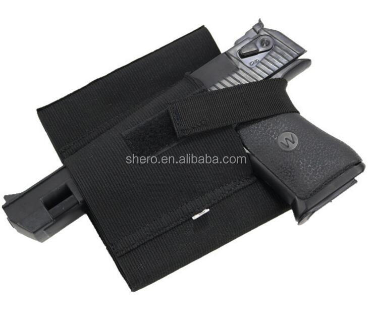 police elastic drop leg holster for pistol ankle gun holster
