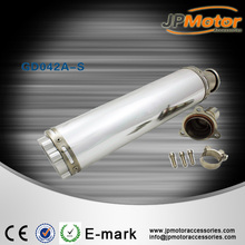 NEW SHAPE performance motorcycle spare, aluminium tube exhaust muffler pipe,stainless steel connector