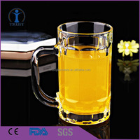 Clear Beer Mugs Drink Cups Steins,beer glass with handlle