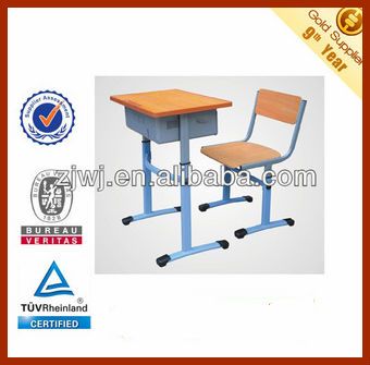 Adjustable desk and chair sets for school