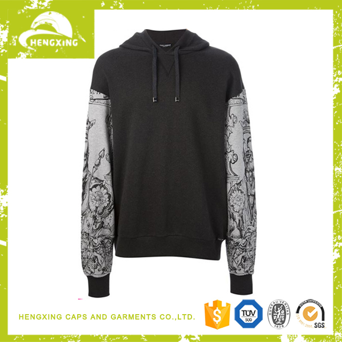 high quality fashion style mens embroidery cotton polyester pullover custom made hoodies