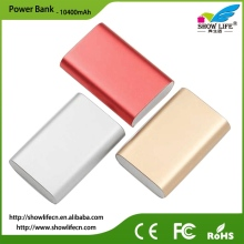 Real capacity portable 10400mAh aluminum mobile power bank