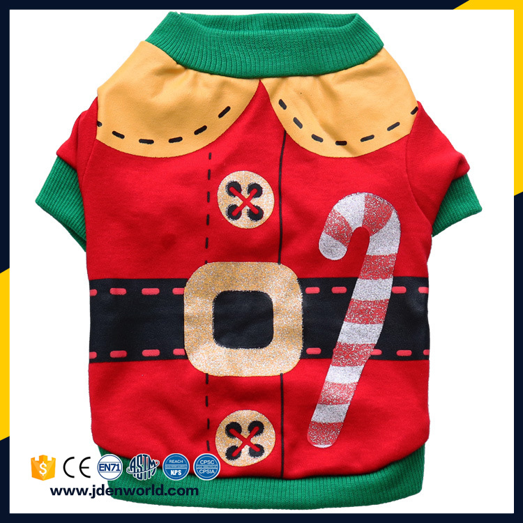 2017 Christmas New Design Wholesale Pet Clothes Dog Apparel Dog Clothes