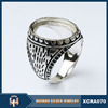 Hot sale Indonesia mens 925 sterling silver ring without stone