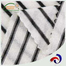 2017 knitted black white stripe cotton wholesale spandex fabric for dress
