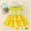 2016 casual high quality cotton round neck baby frock designs for girl china supplier