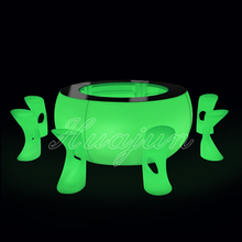 plastic table/led light table/lighting furniture