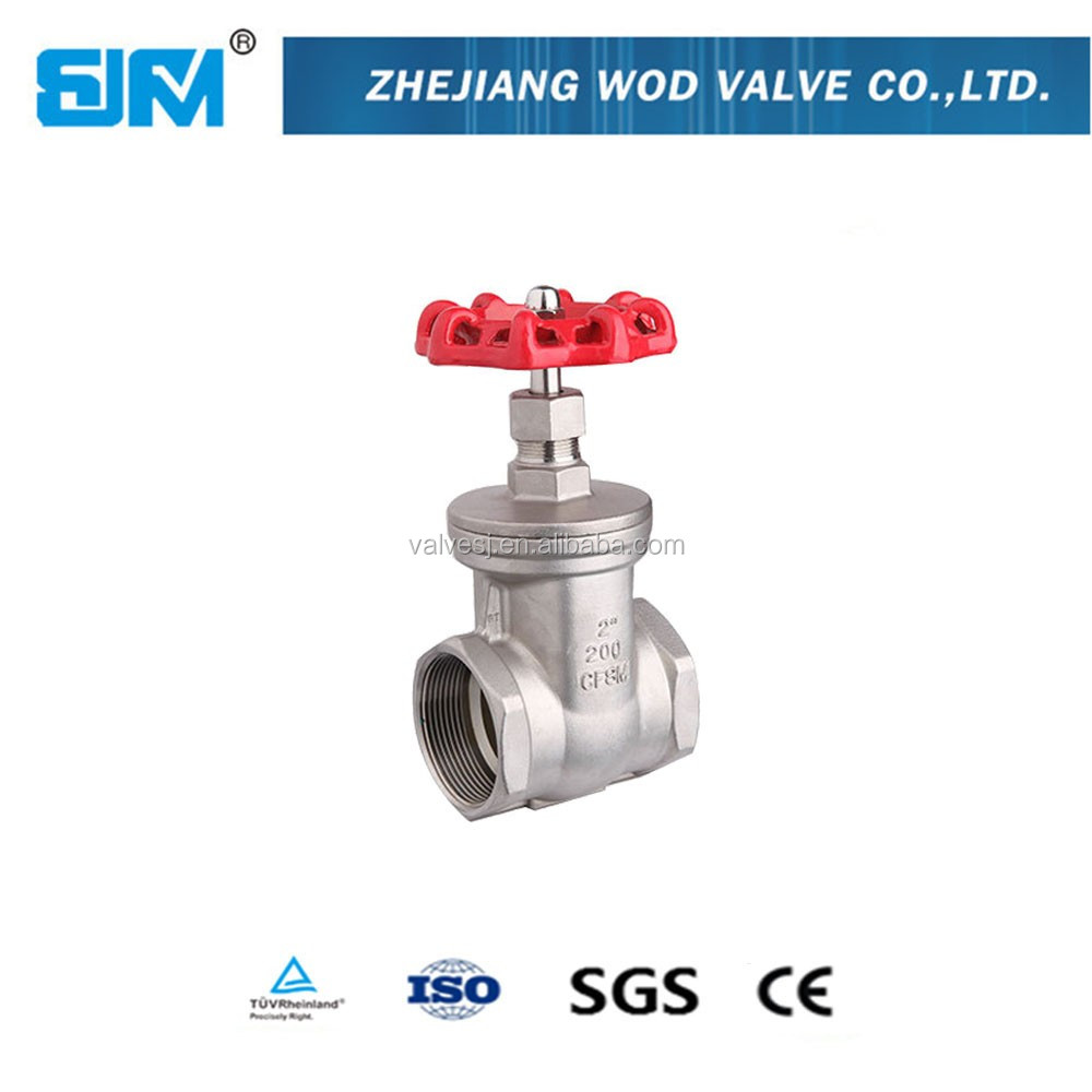 1/2-4 inch stainless steel ss304 and ss316 female thread gate valve 200 PSI