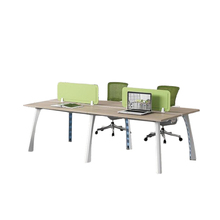 Modern office furniture aluminum wooden office table design open 4 person/seater workstation modular cubicle office partition