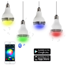 6W Smart Bluetooth Color Changing LED Bulb WiFi Music Bluetooth 4.0 App Control RGB Light E27 Base Wireless Music Player