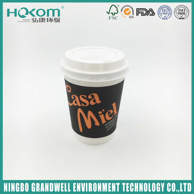 High Quality Durable Competitive Hot Product Black Paper Coffee Cup