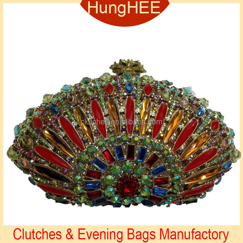 Bling bling clutch bags crystal and rhinestone evening bag IF-RH1414