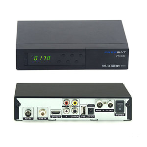 Original Freesat V7 Combo DVB-S2 DVB-T2 1080P HD FTA Satellite Receiver V7 COMBO DVB-S2/T2 Set Top TV Box Powervu