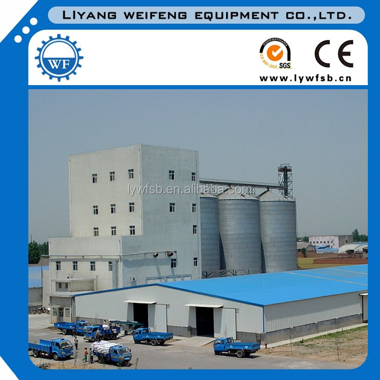 2018Top quality auto dosing and auto packing 5 ton per hour chicken feed pellet line/feed pellet plants with steel platform