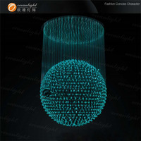 Led fiber engine for LED fiber optic crystal ball pendant lights fiber modern OM508