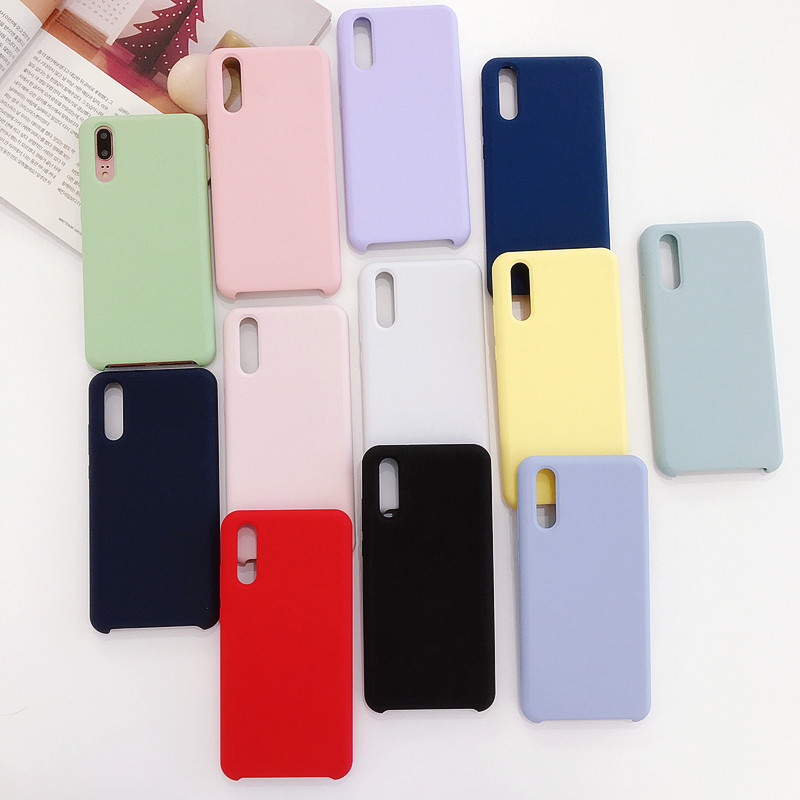 NEW Matte Soft Liquid Silicone Case For Huawei Nova 3 3E Case Silicone Back Cover Phone Case For Huawei P20 Pro P10 <strong>P</strong> Smart Plus