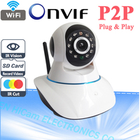 Onvif 720P Wifi Wireless HD IP Camera 1.0 Megapixel H.264 P2P Support 32G TF Card Pan & Tilt IP/Network IP Cam