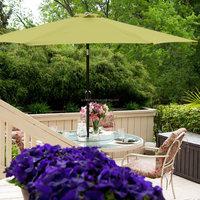 11 foot sage Green Tilt Aluminum Market Umbrella