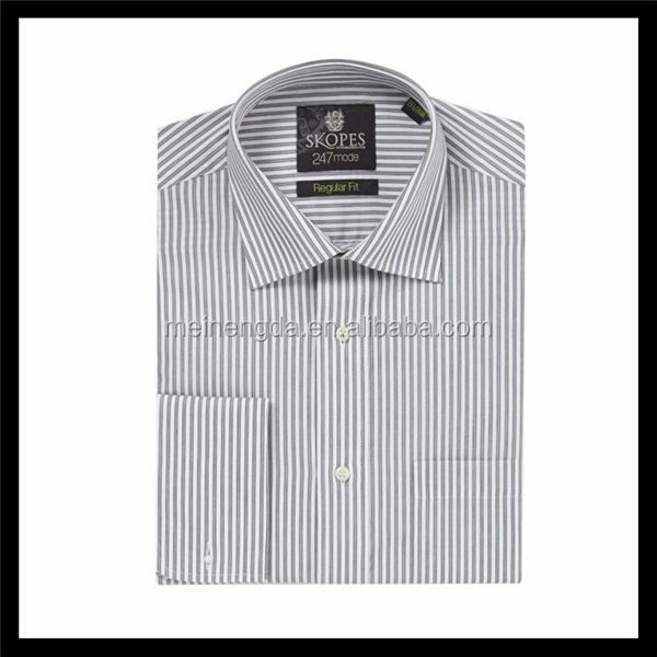 Bulk wholesale classic 100% cotton men formal striped long sleeve shirts with competitive price
