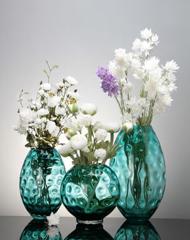 Cheap Glass Flower Vases Green Art Glass Vase For Flower Arrangement
