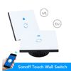 Sonoff Touch Wall Smart Switch Wifi Touch Luxury Glass Panel LED Timer Light Wall 1 Gang Remote Control Via App Phone US/EU Plug