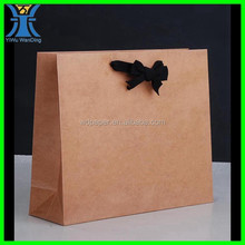 Yiwu 2014 New Arrived unique decorative brown craft paper cheap blank Durable and high quality paper bag