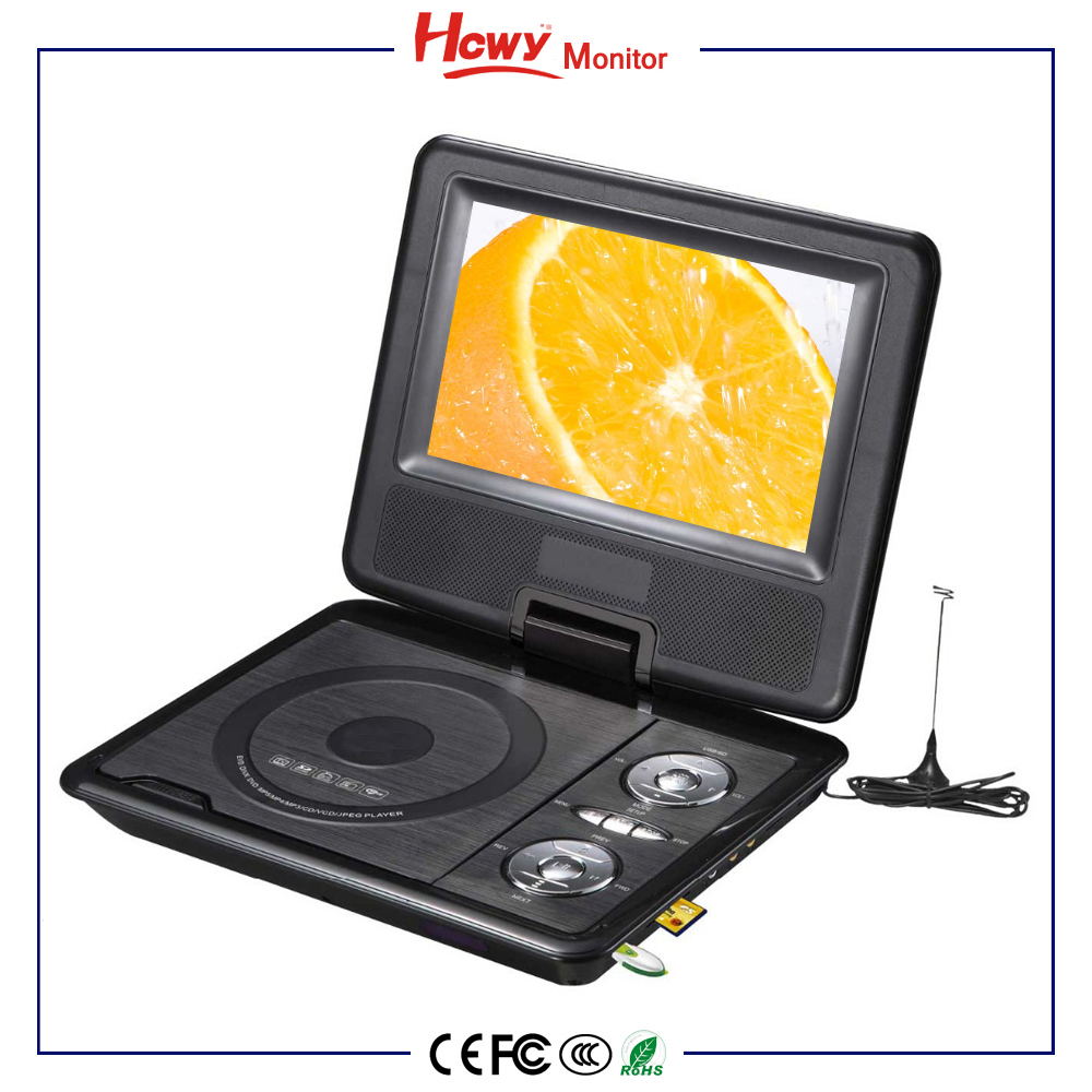 "Portable DVD 7"" 9"" 10"" 12"" Car Headrest DVD Players TV Tuner With USB SD FM Game Function"
