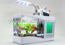 LED Lamp Date Time Temperature Mini USB Fish Tank