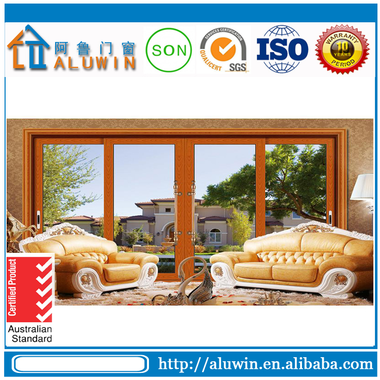 Exterior Position and Sliding Open Style tempered glass aluminum sliding doors