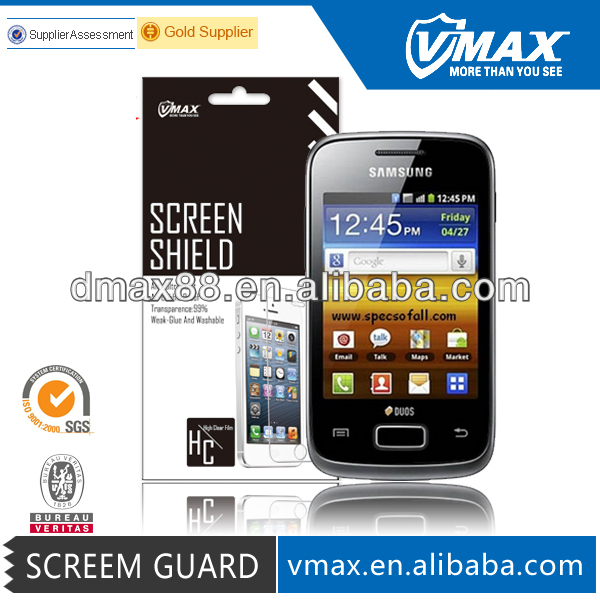 Manufacturer Price ! Cell Phone For Samsung galaxy young s3610 screen protector em/odm (High Clear)