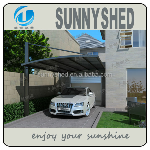 carport parking canopy aluminum with polycarbonate