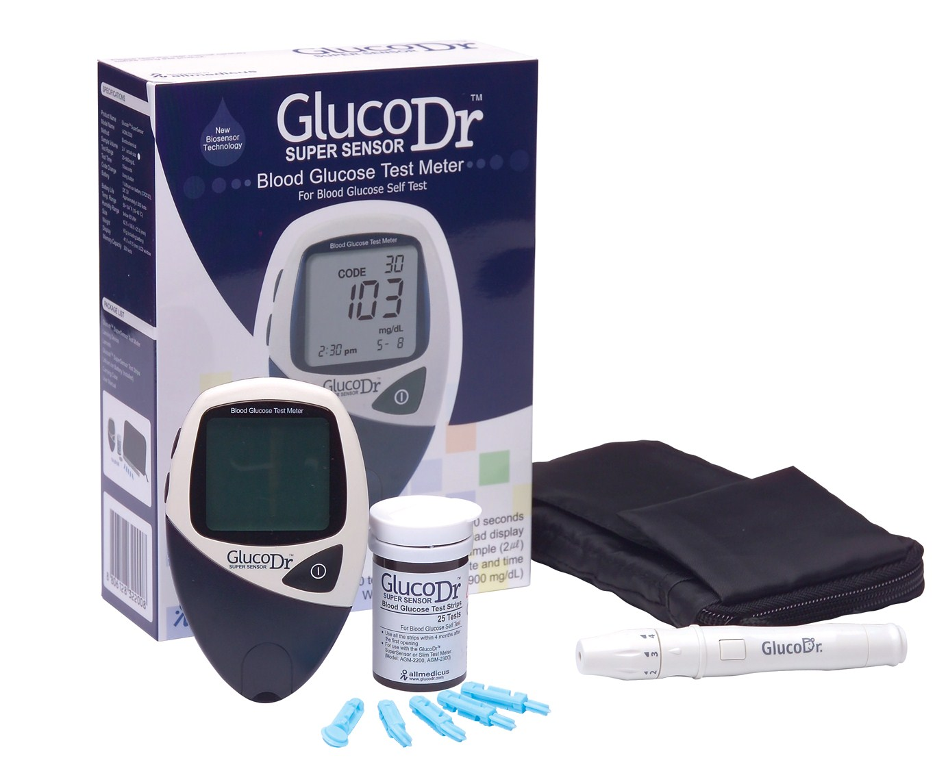 Gluco Dr. Super sensor (AGM-2200) Blood Glucose Monitoring System