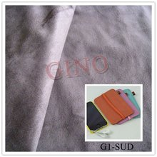 fashion style 100%Polyster Faux Suede Fabric For iphone/ipad cover