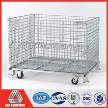 Industrial Transport Rolling Metal Storage Cage
