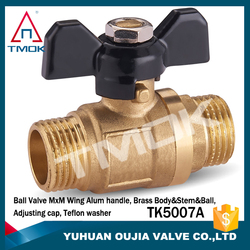"male thread 4"" cw617n 58-2 material washing machine iron nuts copper ball with flow stock flash ball valve brass stem union CE"