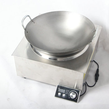 Professional Kitchen Equipment 5000W Stainless Steel Housing Material Induction Cooker