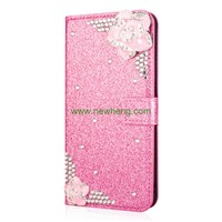 Hot Selling New Products 3D Flower Wallet Flip Cover Leather Case for Samsung S9