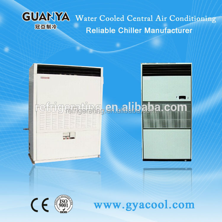 water cooled central air conditioner for hotel room
