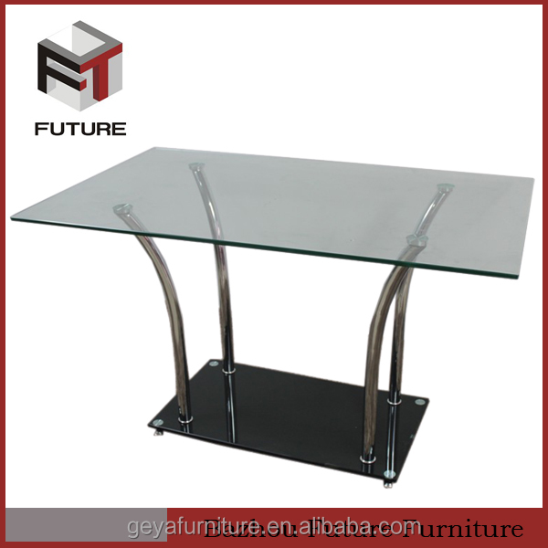 teansparent rectangular glass top dining room tables