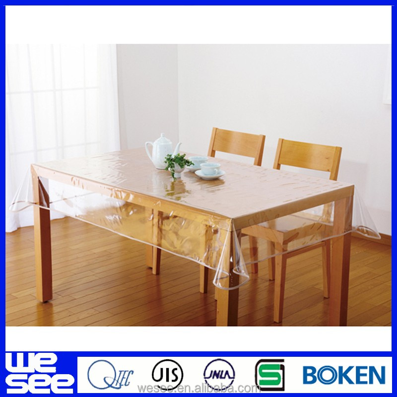 pvc desk mat clear plastic thick clear plastic table cloth pvc table cloth roll