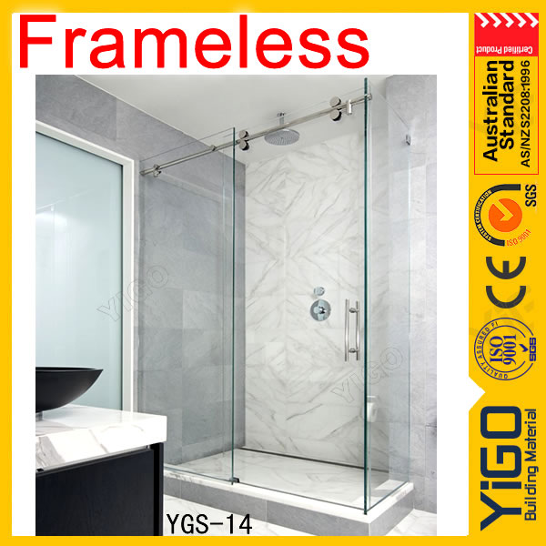 Popular Frameless sliding glass shower