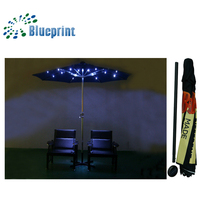 Outdoor furniture umbrella solar power patio umbrella with led lights 24