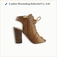 Handmade ladies lace up high heel ankle leather sole sandals