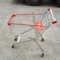 Supermarket retail shopping carts trolley with metal wire