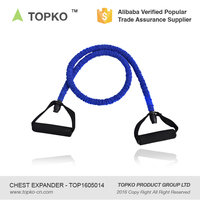 TOPKO Wholesale exercise pull rope resistance tube fitness chest expander